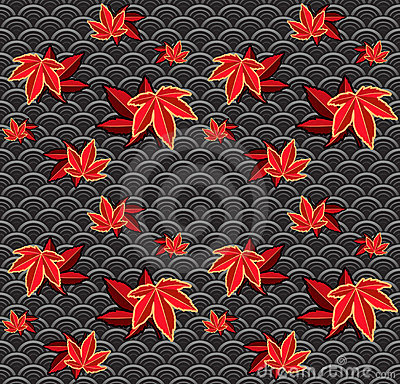 Seamless maple pattern