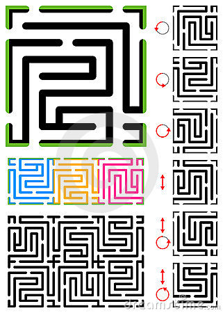 Seamless Maze Pattern Royalty Free Stock Image - Image: 10202336