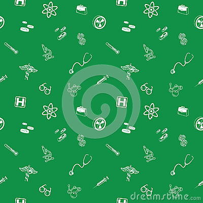 Seamless medical and science background texture