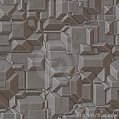 Seamless Metal Ridge Background