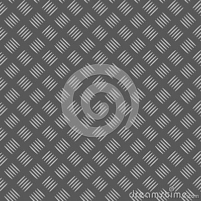 Seamless metall plate
