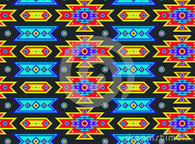 Seamless Mexican Psychedelic Pattern