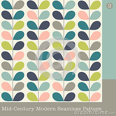 mid century modern vector pattern for fabric backgrounds wallpaper