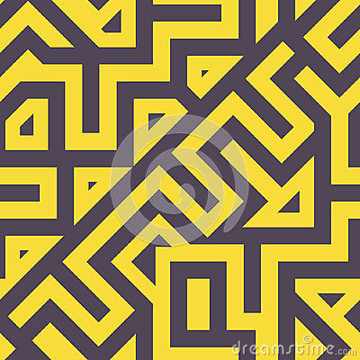 Seamless Modern Tangled Lines Pattern Vector Illustration