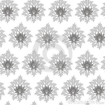 Seamless monochrome original pattern