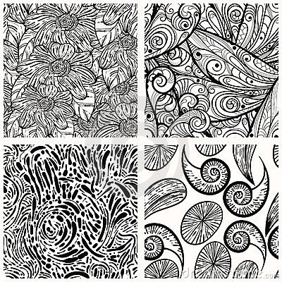 Seamless monochrome patterns