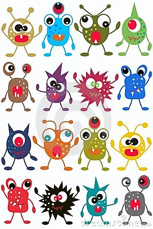 Free Seamless Monster Pattern Stock Photo - 18738060