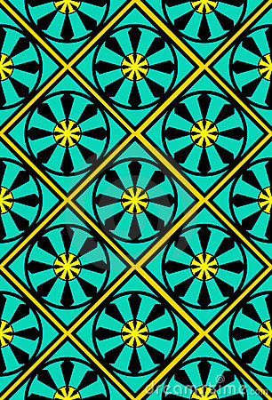 Seamless Moroccan tile wallpaper