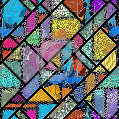 Free Seamless Mosaic Pattern Vector Illustration. Royalty Free Stock Images - 124766379