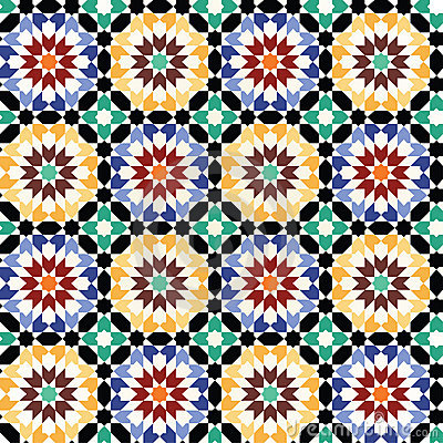Seamless mosaic tile pattern vector