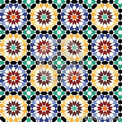 Free Seamless Mosaic Tile Pattern Vector Royalty Free Stock Image - 13120006