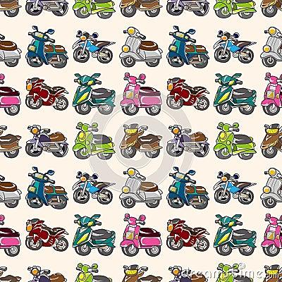 Seamless motorcycles pattern