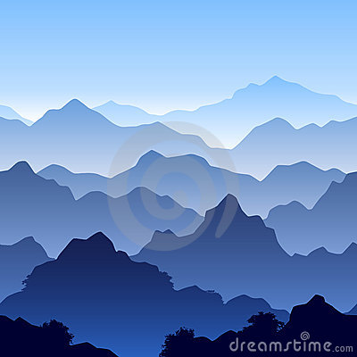 Seamless mountain landscape