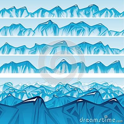 Seamless mountain ridge