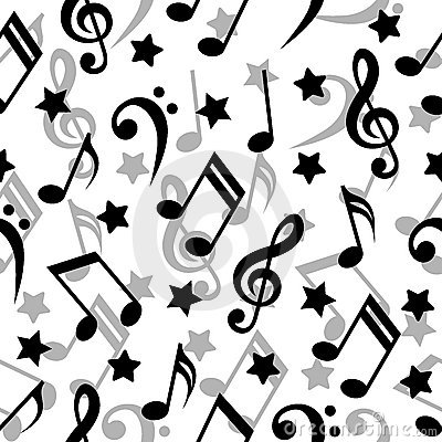 Seamless music notes.