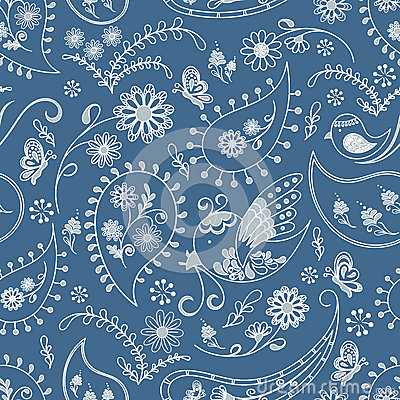 Seamless nature wallpaper pattern