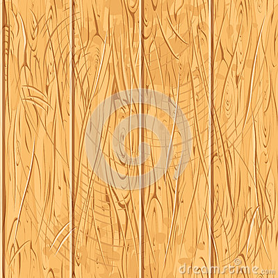 Seamless Old Wooden Planks. Vector Wood Pattern Vector Illustration