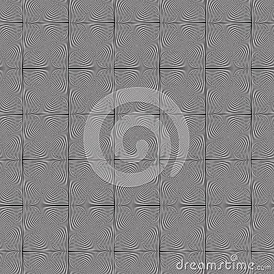 Seamless Op Art Twist Tiles