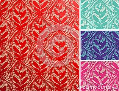 Seamless openwork floral pattern.