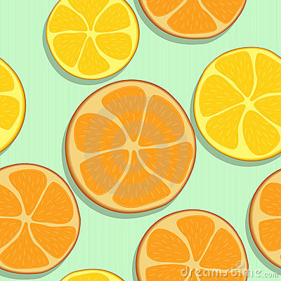 Seamless orange pattern