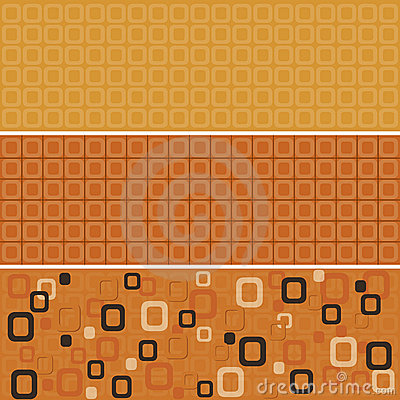 Seamless orange rounded squares