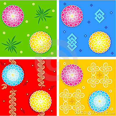 Seamless oriental style patterns