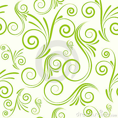Free Seamless Ornament From Swirls Royalty Free Stock Photos - 19230088