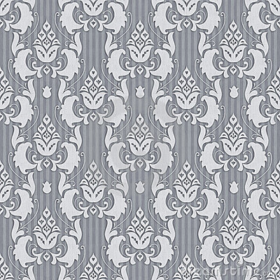 Seamless ornament in gray