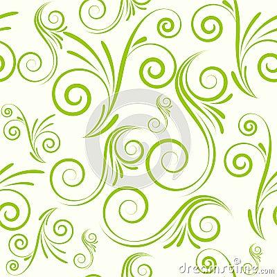 Seamless ornament from swirls
