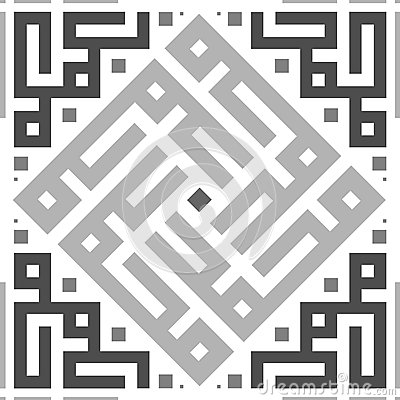 Seamless Ornament Transparent Tile Pattern. Stock Photo