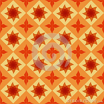 Seamless ornamental tile background
