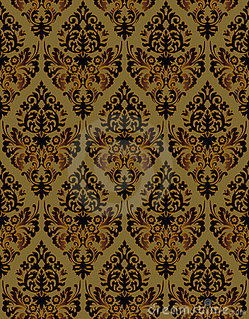 Seamless ornamental vector background