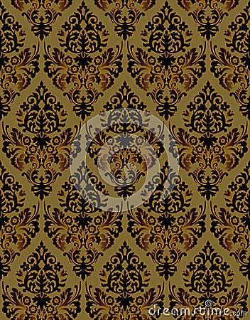 Seamless ornamental vector background