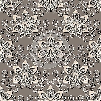 Seamless Ornate Floral Pattern
