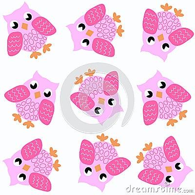 Seamless owl pattern