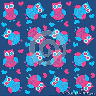 Free Seamless Owl Pattern Stock Photo - 20964240