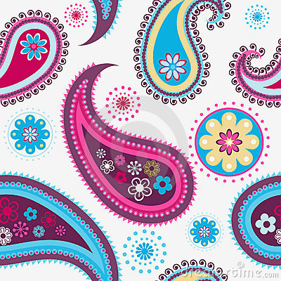 Free Seamless Paisley Pattern Stock Photos - 16608553