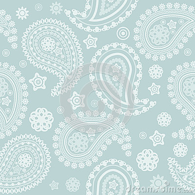 Seamless pale paisley texture