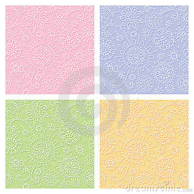 Seamless pastel decorative pattern