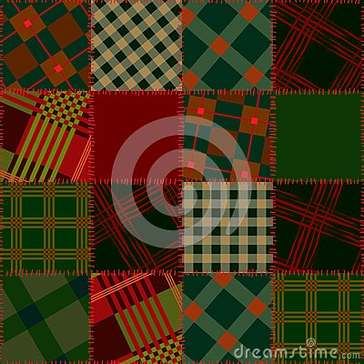 Seamless patchwork of check sguare