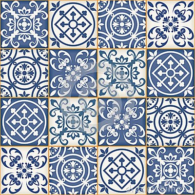 Free Seamless Patchwork Pattern , Moroccan Tiles Royalty Free Stock Images - 56015459