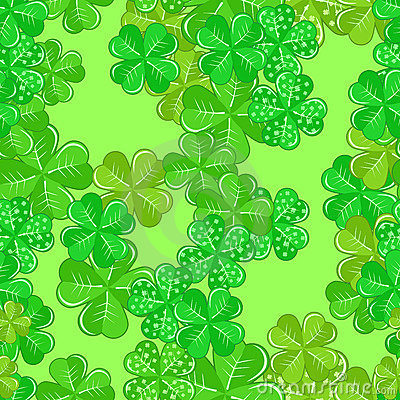 Seamless Patrick s Pattern With Shamrocks