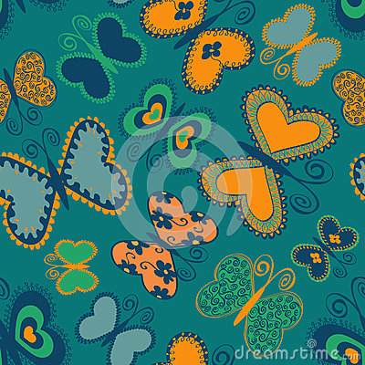 Seamless patter of butterflies