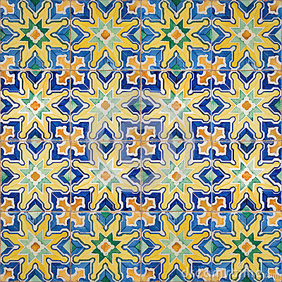 Free Seamless Patter Made Of Traditional Azulejos Tiles Stock Image - 71644891
