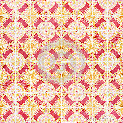 Free Seamless Patter Made Of Traditional Azulejos Tiles Royalty Free Stock Photos - 71645878