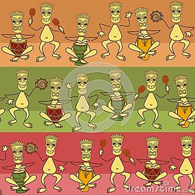 Seamless pattern of aborigine band