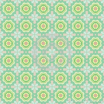 Seamless pattern of abstract flowers Stock Photo