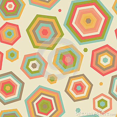 Seamless pattern with abstract parasols.