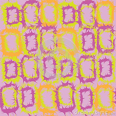 Seamless pattern with abstract rectangular element