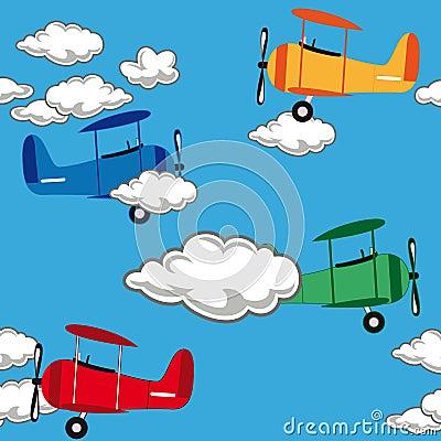 Seamless airplane pattern